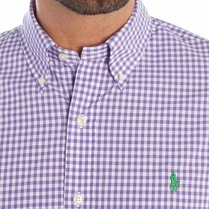 Ralph Lauren Gingham Poplin Short Sleeve Shirt